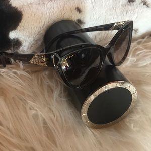 Like new authentic Blvgari Cat Eye Sunglasses